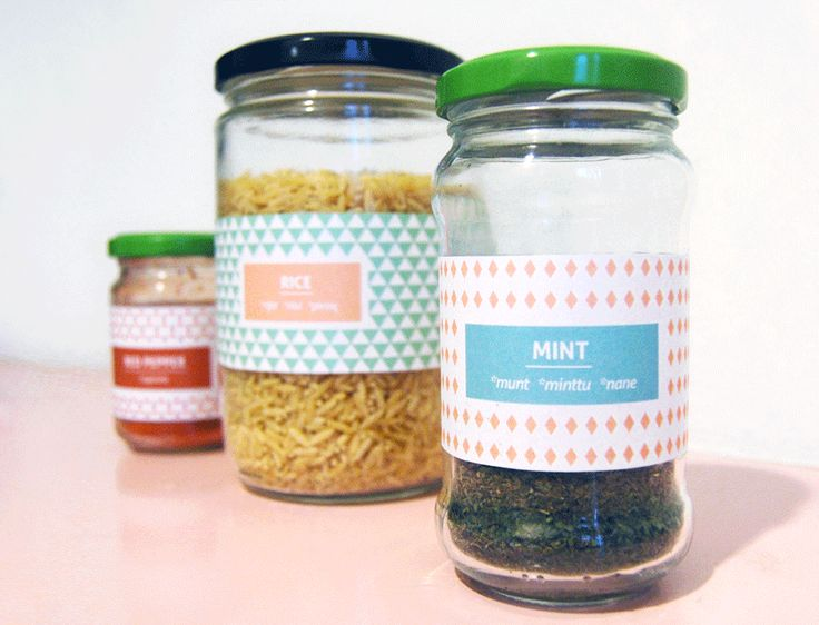 DIY FREEBIE - kitchen jar labels, designed by Emmi Ojala