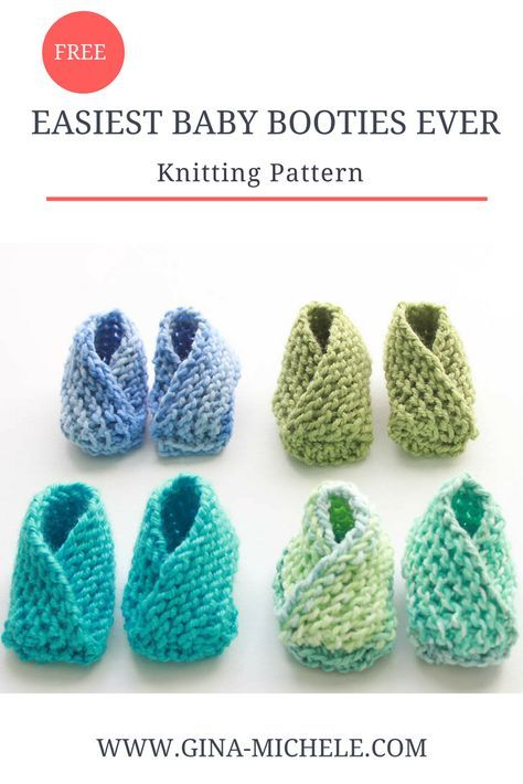 Very Easy Knit Baby Booties Knitting Pattern | A tejer | Pinterest