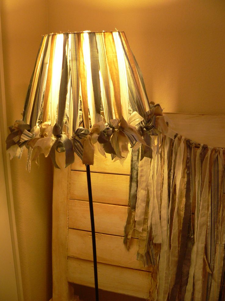 Fabric Strips Lampshade Rag Swag Use Kstate Fabric For