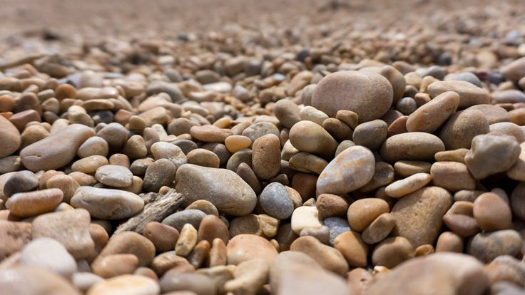 Pebbles on the beach at Golden Cap, Dorset, England