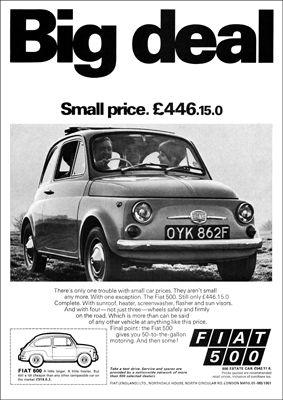 1960 Fiat 500 Advert