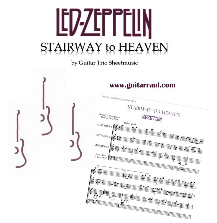 All Music Chords Stairway To Heaven Melody Sheet Music Stairway To