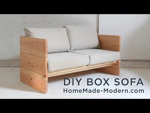 He Nails Several 210's Together, Quickly Creating An Item You Might Just  Need. Watch! Homemade ModernDiy CouchCouch ...