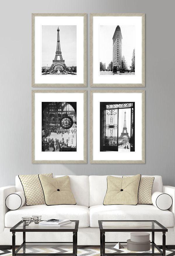 VINTAGE ARCHITECTURE - Set of 4 Premium Framed Art by MINDTHEGAP