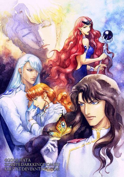 Queen Beryl, Kunzite, Zoisite, Nephrite, and Jadeite of the Dark Kingdom.