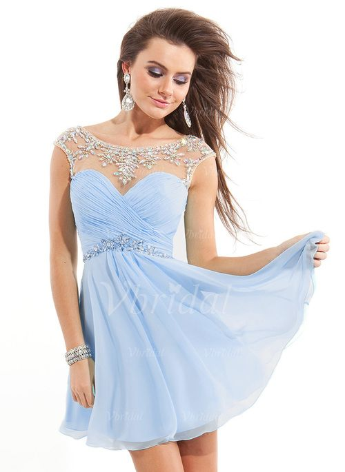 Evening Dresses - $97.00 - A-Line/Princess Sweetheart Short/Mini Chiffon Evening…