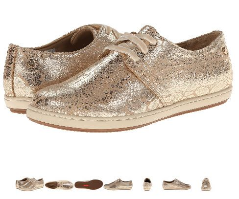 Tenisi VIONIC with Orthaheel Technology Palermo Active Lace Up - gold snake