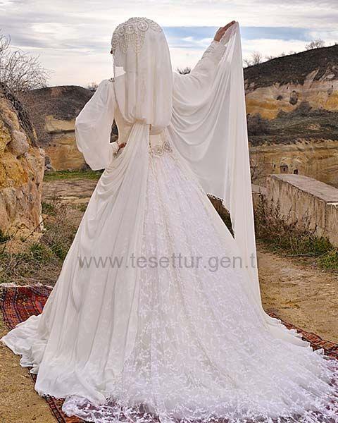 Hanımeli Moda Tesettür Gelinlik Modelleri Model:34
