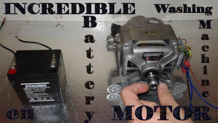 Incredible washing machine motor on battery!