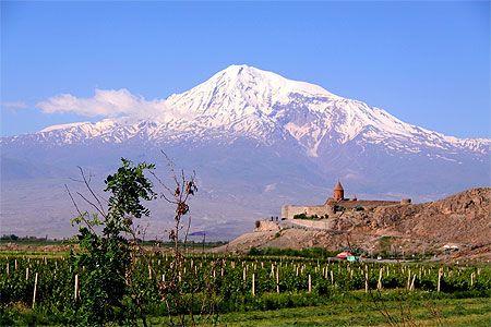 Mont Ararat et Monastère de Khor Virap: