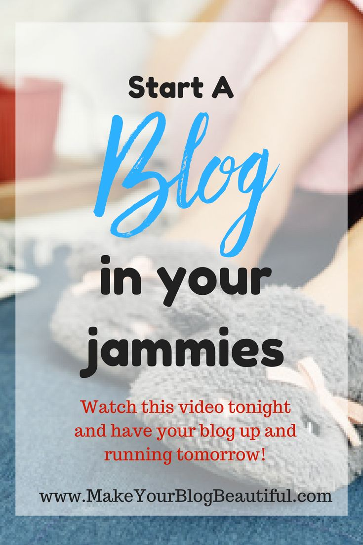 Ready to start your money-making blog? Curl up in your jammies tonight, get a nice glass of something, watch this video, and have your blog up and running by tomorrow! www.MakeYourBlogBeautiful.com