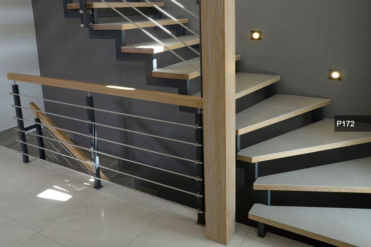 P71 Schody wspornikowe | Konstrukcja: wspornikowa | Drewno: merbau | Balustrada: szklana