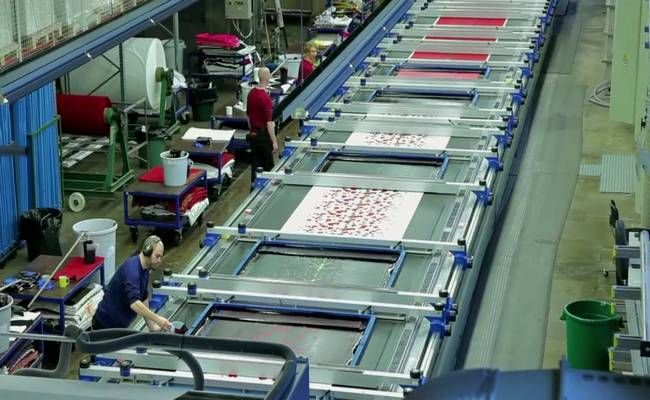 Flatbed screen printing in textile industry | Screen printing process,  Screen printing, Textile industry