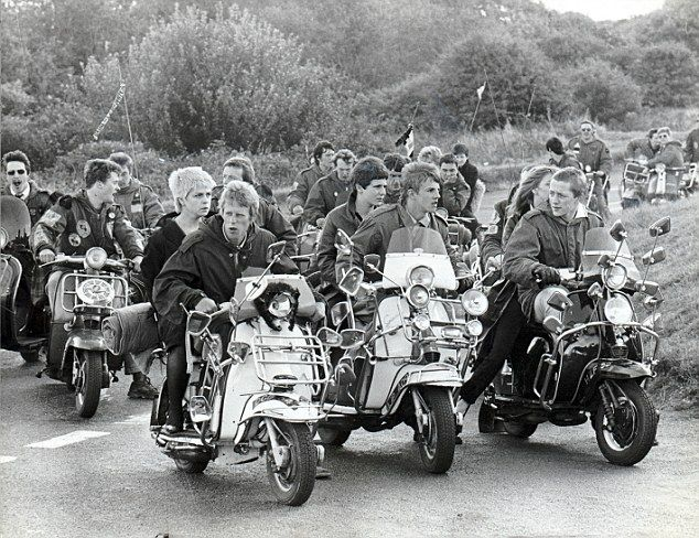 Cult: A scene from cult film Quadrophenia, based on the mod subculture, in which Vespa and Lambretta scooters were central