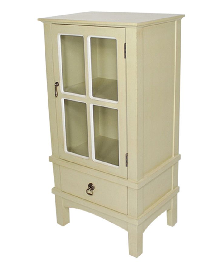 Best Love This Beige Four Pane Glass Door Accent Cabinet By 400 x 300