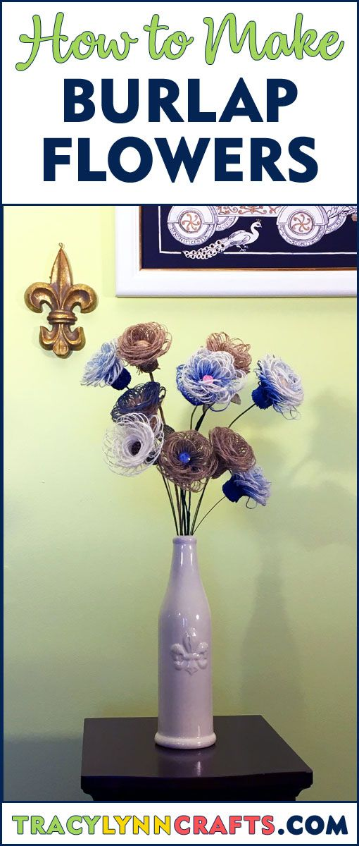 DIY Burlap Flowers Are Easy to Make