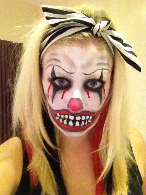 Scary Clown Face Paint Halloween Scary Clowns Scary Clown