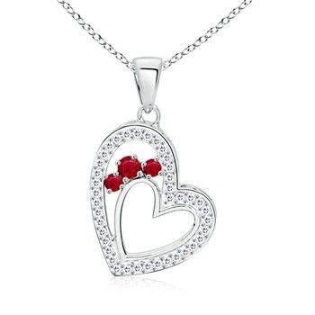 Angara Curb Chain Link Ruby Bracelet in Rose Gold - July Birthstone Bracelet fykkd7v