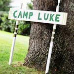 Backyard Camping Birthday Bash: Welcome to Camp! (via Parents.com)