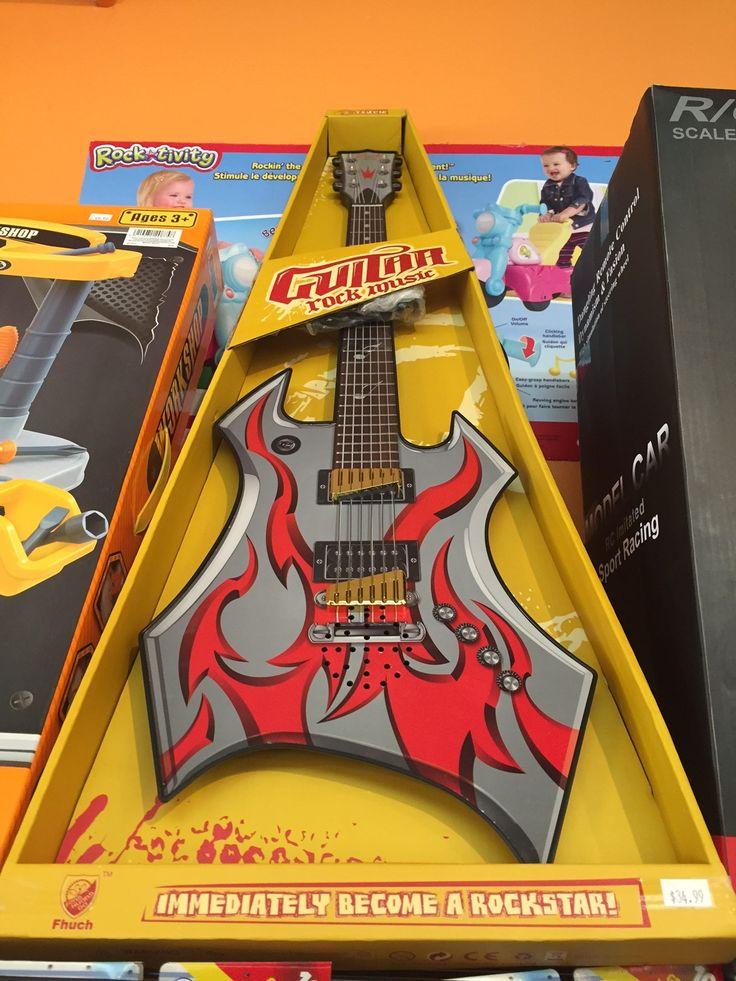 Guitare électronique! 34.99$ Guitar Rockstar #music #stsauveur @Boitesurprises www.laboitasurprises,ca