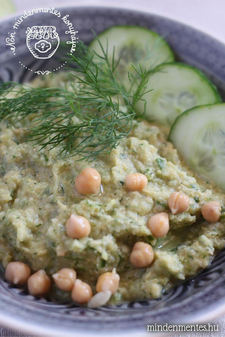 Uborkás-kapros hummusz