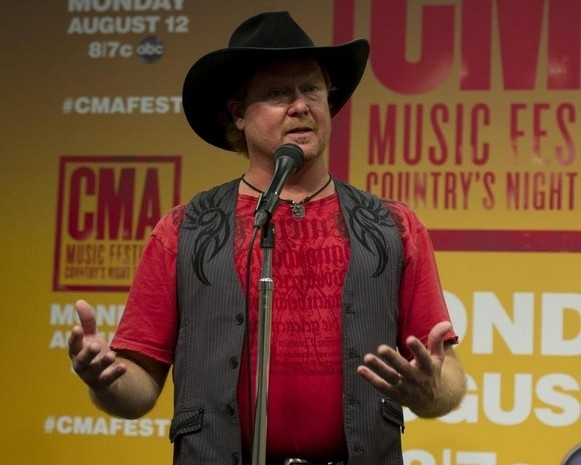 Tracy Lawrence during a pre-show press conference at LP Field Thursday, June 6, 2013 in Nashville