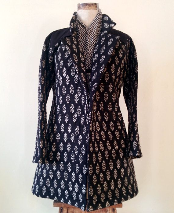 Hand Block Printed Quilted Jacket by MograDesigns