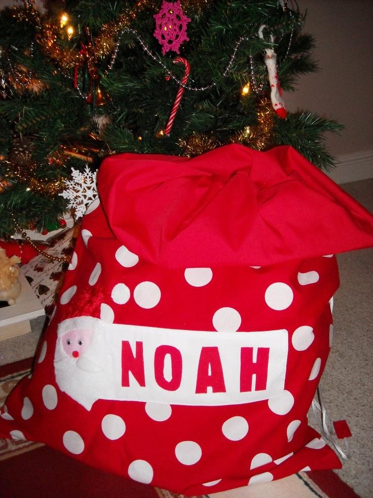 Personalised Christmas Santa Sack. £17.00, via Etsy.