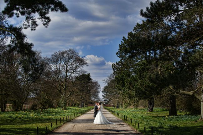 Prested Hall driveway. Photograph courtesy of The Edge photography.