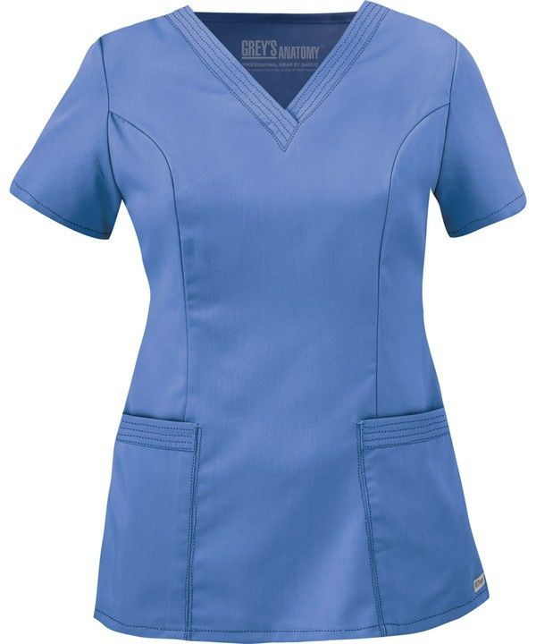 GA71139 Grey's Anatomy Scrubs Stitch Detail V-Neck Top in Ceil Blue http://www.uniformadvantage.com/pages/prod/71139-greys-scrub-top.asp?navbar=11=piqua