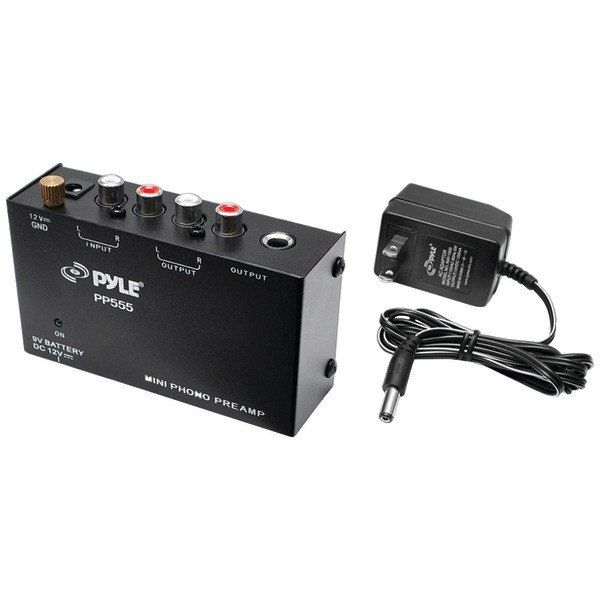 PYLE PRO PP555 Ultracompact Phono Turntable Preamp