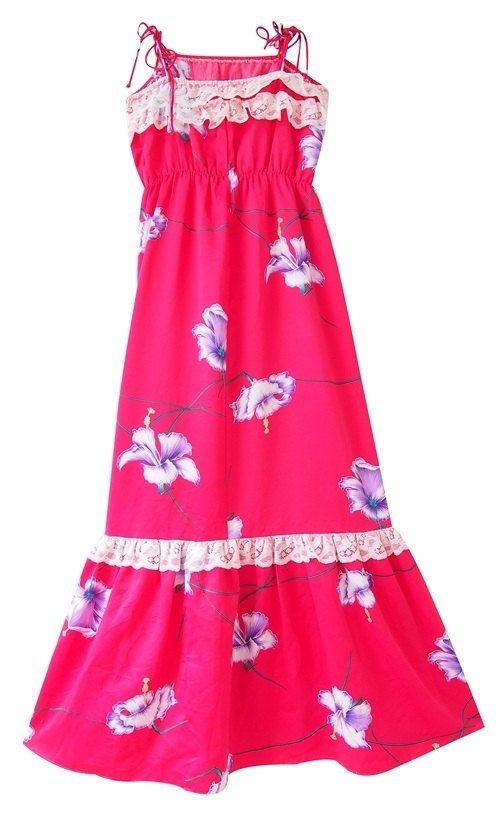 Vintage Hawaiian Dress/ floral dress /polyester dress /  by LPSNUG