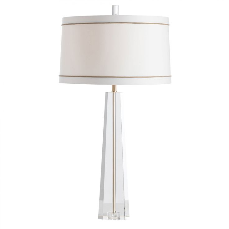 Arteriors home grace clear crystal and pale brass table lamp style