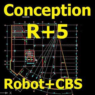 Conception d'un bâtiment administratif avec plans dwg (Robot + CBS)