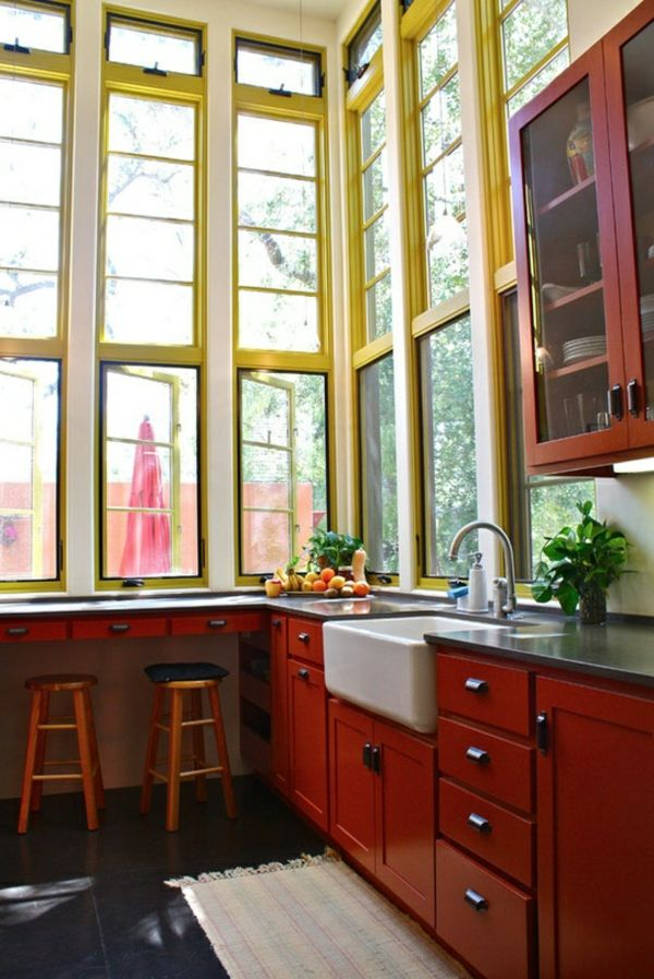 grande fenêtre colorée
