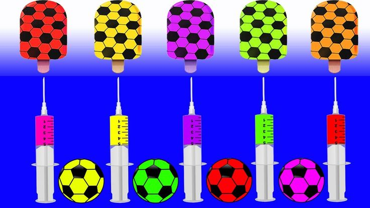 Learn Colors Soccer Ball Injection Ice Cream JOHNY JOHNY Yes Papa FINGER FAMILY Rhymes Song for Kids