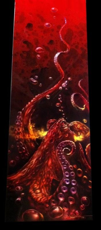 Custom Airbrushed Octopus Panel - Painted by Mike Lavallee of Killer Paint - www.killerpaint.com