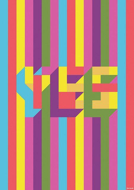 YES Poster http://www.creativeboysclub.com/