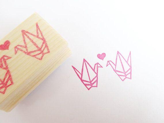 Origami Kranich DIY Hochzeit von JapaneseRubberStamps auf Etsy