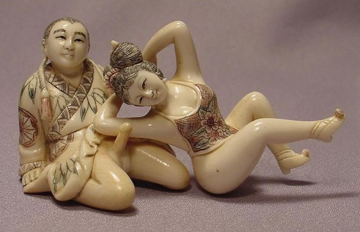 Chinese erotic netsuke