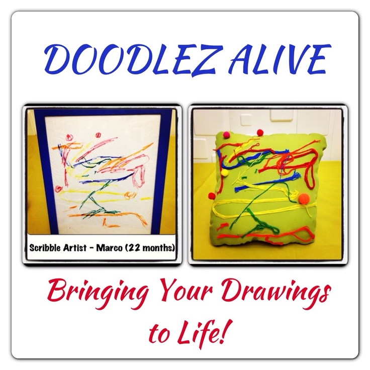 Children's Drawings come to life as Doodle Pillows for any child's room!