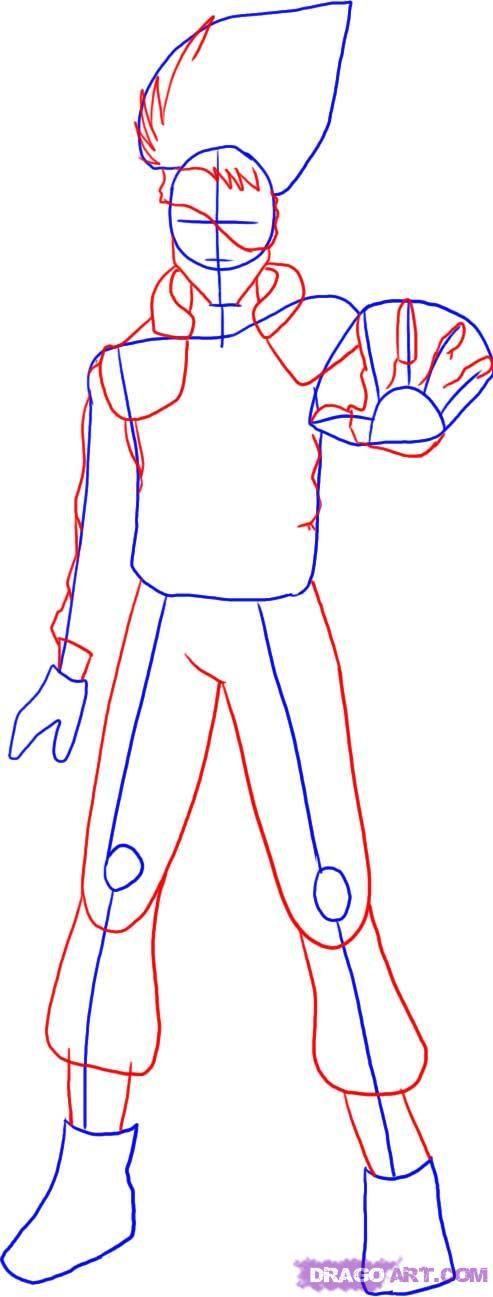 how to draw kakashi hatake from naruto step 2
