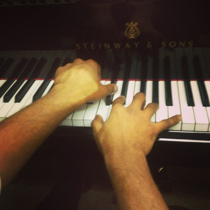 Piano practice at Steinways London