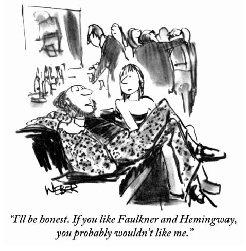 Hemingway and Faulkner #Humor This cracked me up, mainly due to certain things that were often said at the writers groups meetings I've been to.