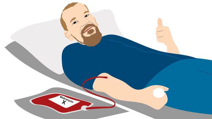 Luovutetun veren matka -infographic @ Stina Tuominen