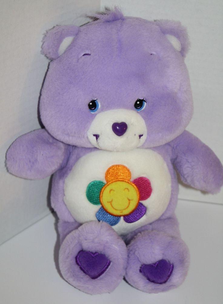 "Harmony Care Bear Plush Purple Talking 2003 Stuffed Animal Toy 13"" flower tummy #CareBears #AllOccasion"