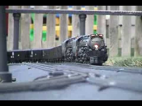 This is a model train of the bigist steem train ever built!