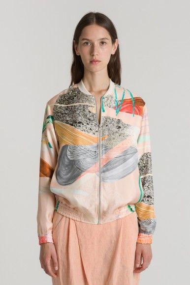 Lene Jacket, pink pattern