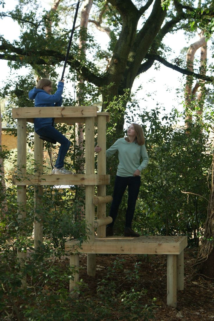 Woodland launch platform for Treehouse Life Zip Wires