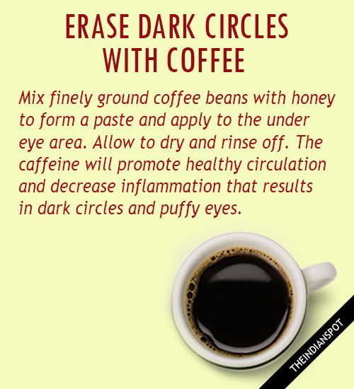 DIY EYE CREAM  FOR DARK CIRCLES - Coffee is naturally full of antioxidants and caffeine which assist the skin's ability to heal, restore, firm and tighten. R...
